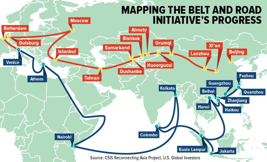 Çin'in Kuşak Yol Girişimi Projesi